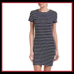 NWT FRENCH CONNECTION Navy & White Striped Dress